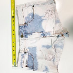 Bleached Dyed Destroyed Booty Shorts 1466